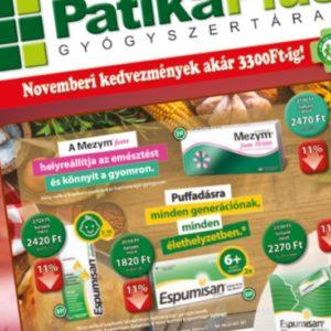 Patika Plus – novemberi kiadvány