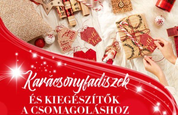 Karácsonyfadíszek és csomagolás a Pepcoban