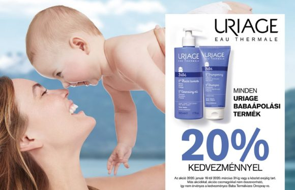 20 % kedvezmény Uriage termékekre!