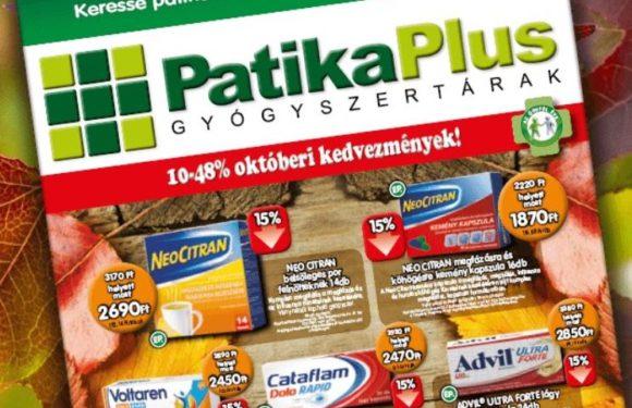Patika Plus – 10-32% kedvezmények októberben